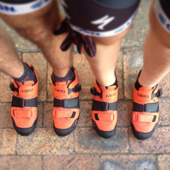 These shoes were made for walking... and cycling