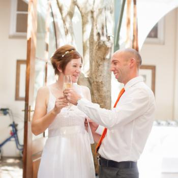 Speech making at our wedding